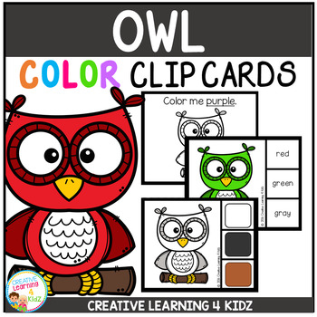 Color Clip Cards: Owl