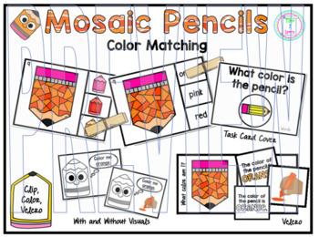 Color Clip Cards: Pencils