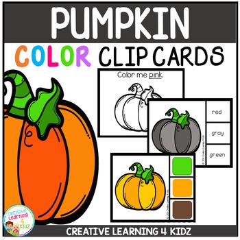 Color Clip Cards: Pumpkin