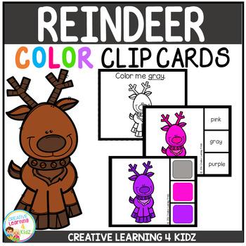 Color Clip Cards: Reindeer