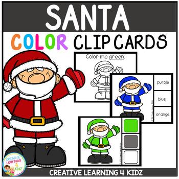 Color Clip Cards: Santa