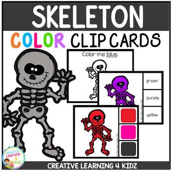 Color Clip Cards: Skeleton