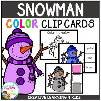 Color Clip Cards: Snowman