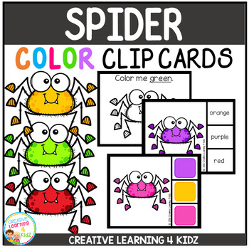 Color Clip Cards: Spider