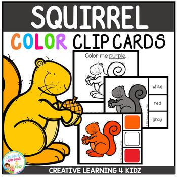 Color Clip Cards: Squirrel