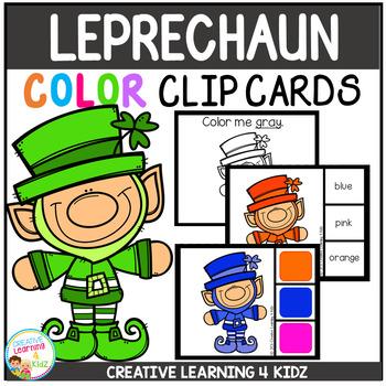 Color Clip Cards: St. Patrick's Day Leprechauns