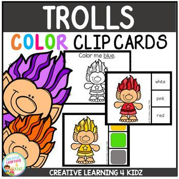 Color Clip Cards: Trolls