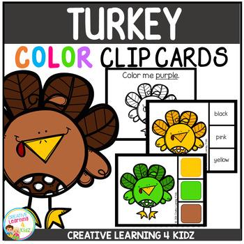 Color Clip Cards: Turkey