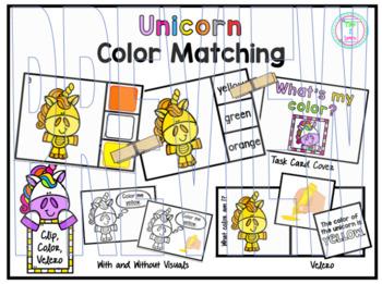 Color Clip Cards:  Unicorns