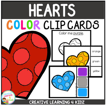Color Clip Cards: Valentine's Day Hearts