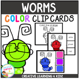 Color Clip Cards: Worms