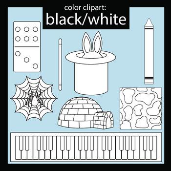 Color Clip art: Black/White objects