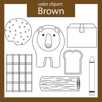Color Clip art: Brown objects
