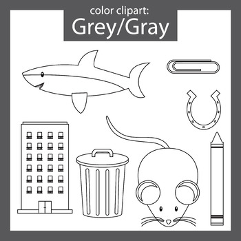 Color Clip art: Grey / Gray objects