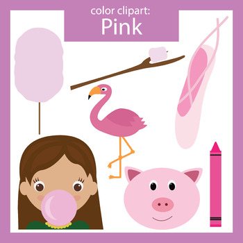 Color Clip art: Pink objects