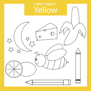 Color Clip art: Yellow objects