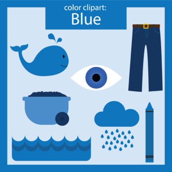 Color Clip art: blue objects