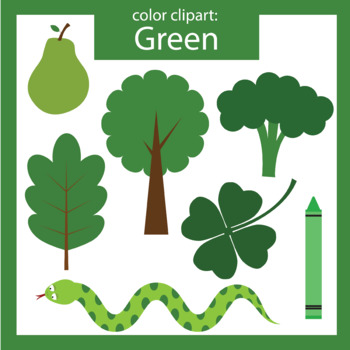 Color Clip art: green objects by ThinkingCaterpillars | TpT
