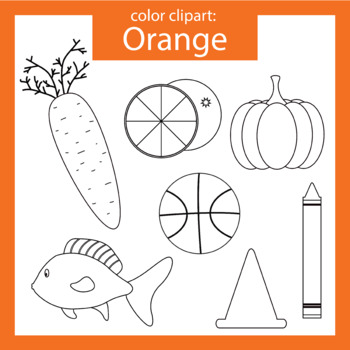 Color Clip art: orange objects