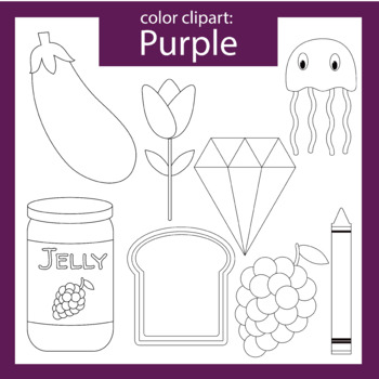 Color Clip art: purple objects