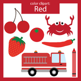 Color Clip art: red objects