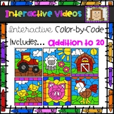 Color Code Interactive Videos - Farm Addition to 20