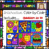 Color Code Interactive Videos - Food Addition to 20