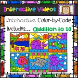 Color Code Interactive Videos - Ocean Addition to 10