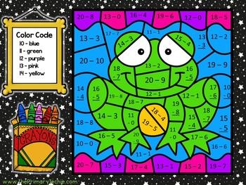 Color Code Interactive Videos - Pond Subtraction to 20