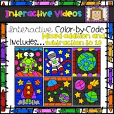 Color Code Interactive Videos - Space Mixed Practice Facts to 10