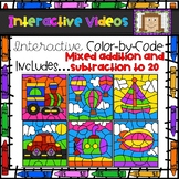 Color Code Interactive Videos - Transportation Mixed Pract