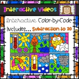 Color Code Interactive Videos - Weather Subtraction to 20