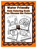 Color Code Penny Nickel Dime Quarter Water / Sea / Ocean S