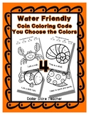 Color Code Penny Nickel Dime Quarter Water / Sea / Ocean S