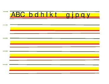 Color-Coded Adaptive Handwriting Paper