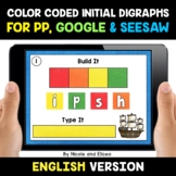 Color Coded Beginning Digraphs Word Work for Google and Seesaw