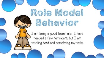 Behavior Clip Chart - Color Coded