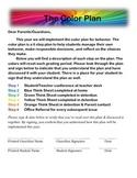 Color Coded Behavior Management Plan