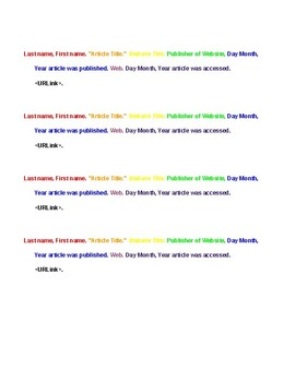 Color Coded Bibliography