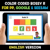 Color Coded Bossy R Word Work for Google and Seesaw - Dist