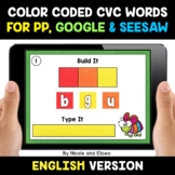 Color Coded CVC Word Work for Google and Seesaw - Distance