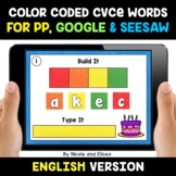 Color Coded CVCe Word Work for Google and Seesaw - Distanc