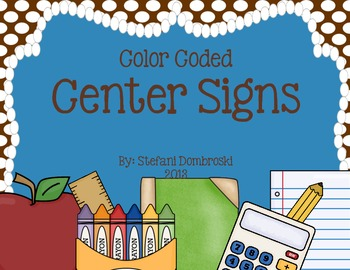 Color Coded Center Signs