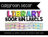 Color Coded {Classroom Library} Book Bin Labels