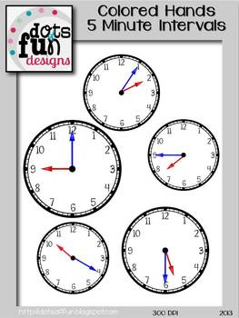 Color Coded Clocks: 5 Minute Intervals For Beginners