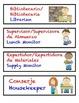Color Coded Dual Language Classroom Jobs ( Spanish & Engli