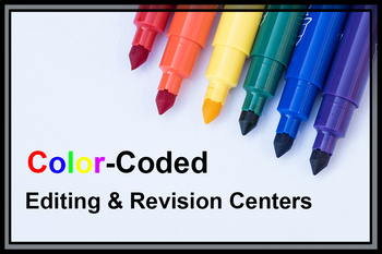 Color-Coded Editing and Revision Centers