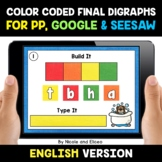 Color Coded Ending Digraphs Word Work for Google and Seesa