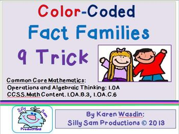 Fact Families 9 TRICK Common Core Color Coded