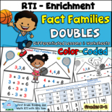 Fact Families Doubles Common Core Color Coded